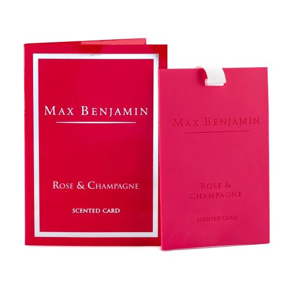 MAX BENJAMIN Duftkarte ROSE & CHAMPAGNE