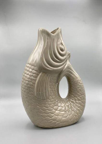 MONSIEUR CARAFON Fisch-Vase Weiß